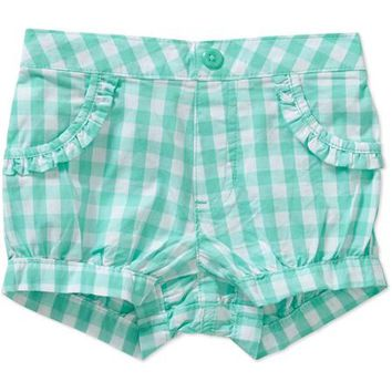 Garanimals Newborn Baby Girl Plaid Shorts - Walmart.com