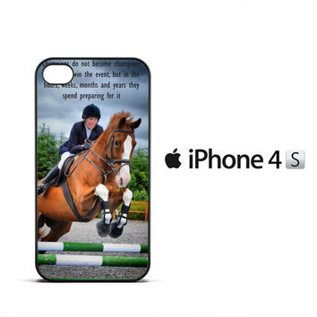 horse jumping photography Y2410 iPhone 4   4S Case
