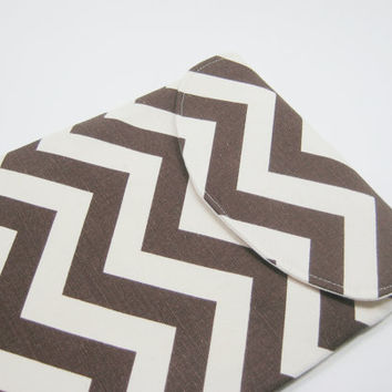 Chevron iPad Sleeve, Chevron iPad Case, Chevron iPad Cover, Brown iPad Mini Sleeve, iPad Air Case