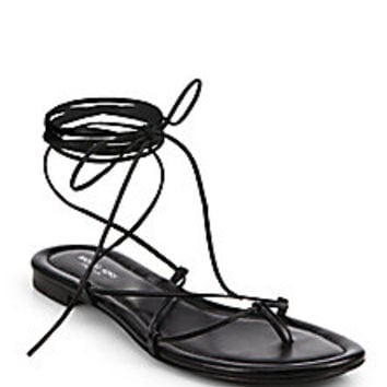 Michael Kors - Bradshaw Lace-Up Leather Sandals  - Saks Fifth Avenue Mobile
