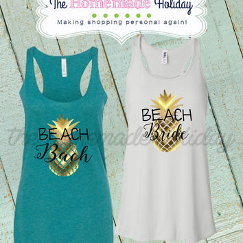 Beach Bach Pineapple Tanks