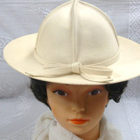 Frank Olive From the Olive Branch Safari Pith Style Hat Geo W. Bollman Excello Wool Hat
