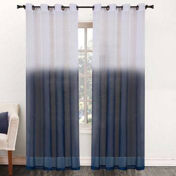 Two-Tone Ombre 84-inch Sheer Curtain Panel | Overstock.com Shopping - The Best Deals on Sheer Curtains