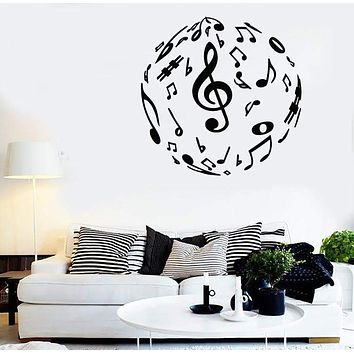 Wall Stickers Vinyl Decal Sheet Music Excellent Room Decor Unique Gift (ig1795)