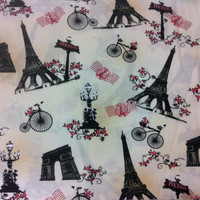 Tour De France Cotton Fabric - Sewing Craft Supplies