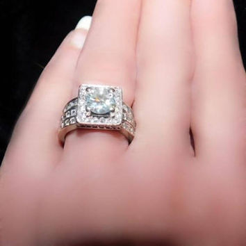 3 tcw Antique Diamond Engagement Ring Propose w/ Lots of Sparkle