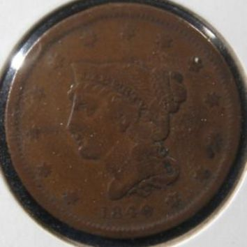 USA 1840 LARGE CENT COIN COPPER PENNY SMALL DATE COIN GREAT COLLECATBLE COIN