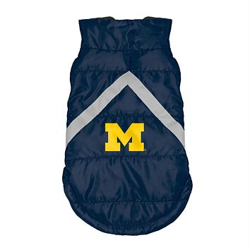 Michigan Wolverines Pet Puffer Vest