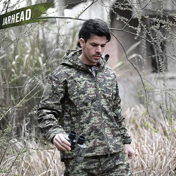 V5.0 TAD Shark Skin Waterproof Military Jackets Men Outdoor Sport Soft shell Hike Hunt Army Tactical Camo Hoodie Jackets