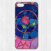 Beauty and the Beast iPhone 5 Case,Flowers Rose iPhone 5 Hard Case,cover skin case for iphone 5 case,More styles for you choose