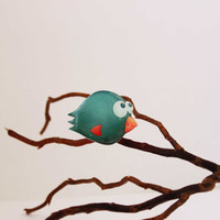 "Free shipping Brooch-bird brooch ""The funny blue bird"""