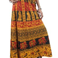 Women Wrap Long Skirt Tribal Wrap Around Dress Mogul Maxi Boho Skirts