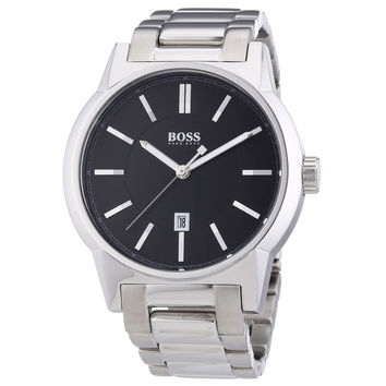 Hugo Boss 1512913 Men's Black Dial Steel Bracelet Quartz Watch