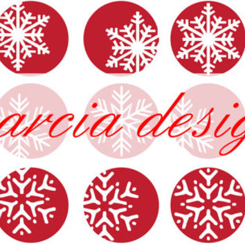 Christmas snowflake pattern snowflake stickers digital download
