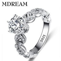 Rings 925 with Platinum plated Zirconium jewelry LSR097