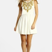 LABEL by five twelve Embroidered Fit & Flare Dress