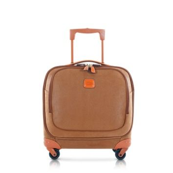 Bric's Designer Travel Bags Life Camel Micro Suede Small Pilot Cabin Spinner
