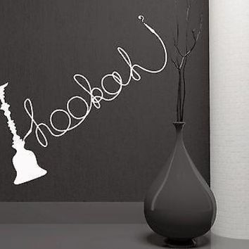 Wall Stickers Shisha Hookah Smoking Smoke Arabic Bar Weed Vinyl Decal Unique Gift (ig1947)