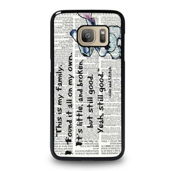lilo and stitch quotes disney samsung galaxy s7 case cover  number 1