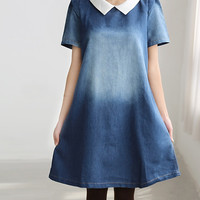 Lovely doll dress/ cotton tunic knee length dress
