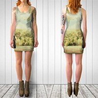 Women's Art Fitted or Flare Dress Bridge to Paradise fine art photography Fashion