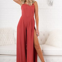 Barefoot At The Beach Jumpsuit (Rust)