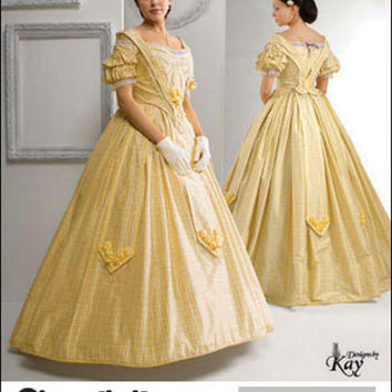 Women's Civil War Reenactment Gown Skirt & Top Historical Costume Kay Gnagey Bust 38 40 42 44 46 Simplicity 2881 UNCUT Sewing Patterns