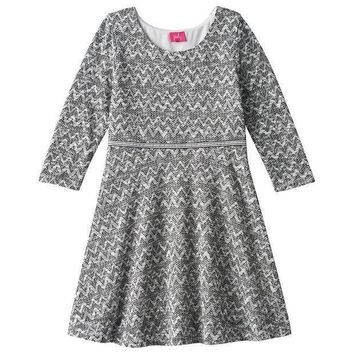 Pinky Los Angeles Double Knit Skater Dress   Girls