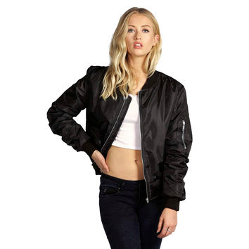 Zip Up Satin Jacket