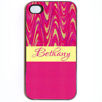 iPhone 4 4s Pink Cool Design With Name Hard Snap on by KustomCases