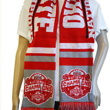 Ohio State Buckeyes National Champions Official NCAA Scarf