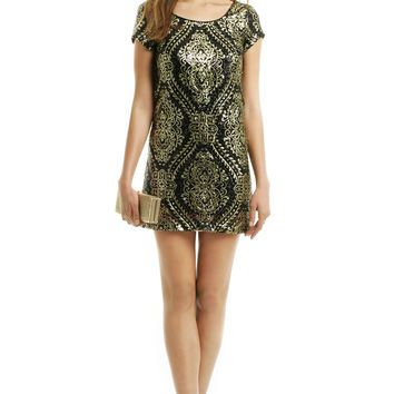 Slate Amp Willow Mae Sequin Shift From Rent The Runway Epic