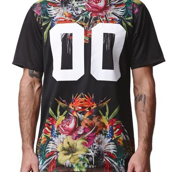 On The Byas Black Magic Mesh Jersey - Mens Tee - Black
