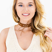 To The Limit Choker - Brown