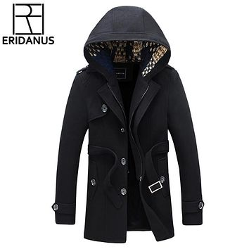 New Jacket Men Thick Coats Casual Spring Outwear Military Man Cotton Jackets Wool Overcoat Mens Parka Thermal