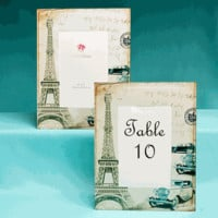 Paris Table Number & Picture Frames