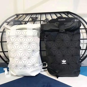 Adidas 3D prismatic geometry Shoulder School Bag Backpack H-A-GHSY-1