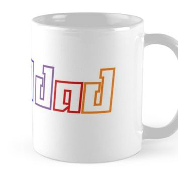 'Proud Dad - LGBTA Solidarity' Mug by SunBadgerMalibu
