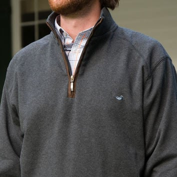 DownpourDry Pullover in Midnight Gray by Southern Marsh