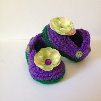 Perfect Baby Shower Gift Handmade Mary Jane Booties - Any Color