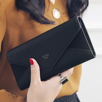 Luxury Brand Designer Leather Wallets Women Long Hasp Coin Purses Clutch Phone Wallets