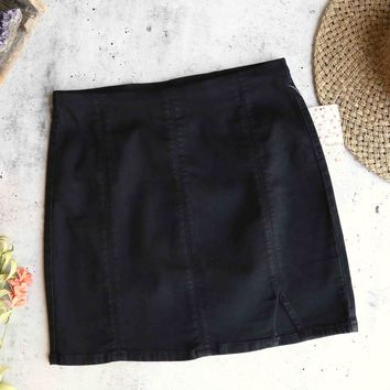 free people - femme fatal pull on skirt - true black
