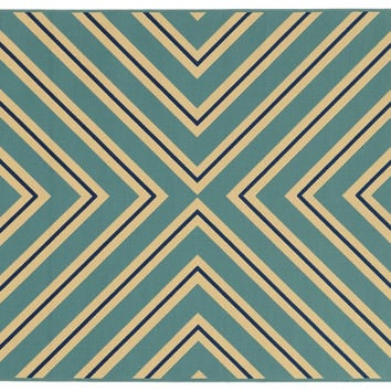 Sampson Outdoor Rug, Blue, Area Rugs