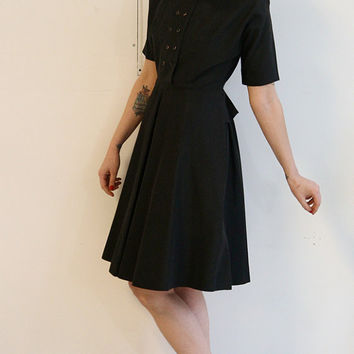 1940s Dress // vintage 40s cocktail dress // Connie Carter
