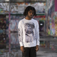Gimme The Loot L/S Tee White
