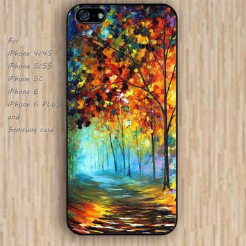 iPhone 5s 6 case colorful watercolor tree phone case iphone case,ipod case,samsung galaxy case available plastic rubber case waterproof B409