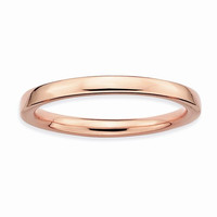 Sterling Silver Pink-Plated Polished Ring