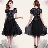 Kawaii Lolita Chiffon Short Sleeve Dress - M L XL XXL XXXL from Tobi's Finds