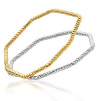 Twisted Hex stacking bangle   Cred Jewellery