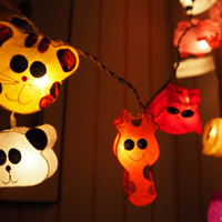 SALE Cute animal lover Fairy String Light - 20 animal Lights Fairy lights Party Decor Wedding Garden Spa and Holiday Lighting